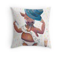 New Years Hog Throw Pillow