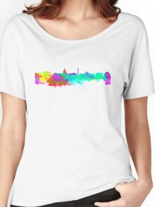 Washington DC Skyline - Water Colours Women's Relaxed Fit T-Shirt