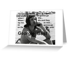 George Best- Spirit in the Sky Greeting Card