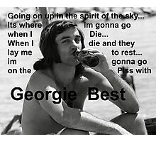 George Best- Spirit in the Sky Photographic Print