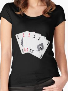 Five aces poker hand Women's Fitted Scoop T-Shirt