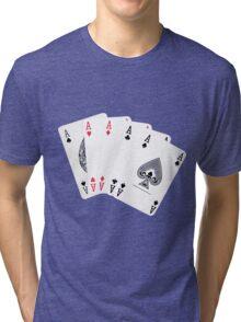 Five aces poker hand Tri-blend T-Shirt