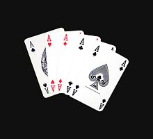 Five aces poker hand Unisex T-Shirt