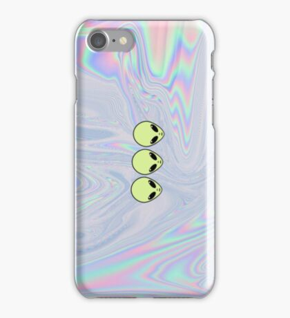 Alien Tumblr Phone Case - Iridescent, Holographic, Pale iPhone Case/Skin