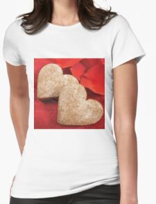 Two hearts  Womens Fitted T-Shirt