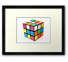 Rubix Cube. Framed Print