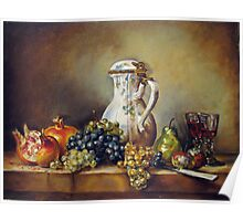 My Chardin-Still life with white pitcher Poster