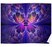 Blue Paper Butterfly Poster
