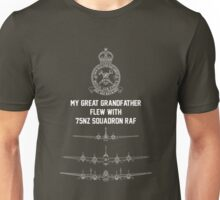 My Great Grandfather flew with 75NZ Squadron RAF Unisex T-Shirt