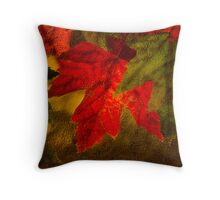 Brilliant Fall Leaves Throw Pillow