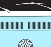 Late Bay VW Camper Pale Blue Front Sticker