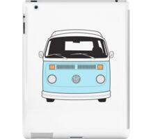 Late Bay VW Camper Pale Blue Front iPad Case/Skin