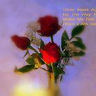 Three Roses Aglow by Wanda Raines