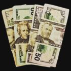 USA Presidents dollar bills by Sandra O'Connor