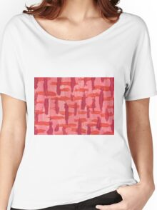 Orange & Pink  Women's Relaxed Fit T-Shirt