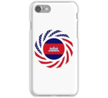 Cambodian American Multinational Patriot Flag iPhone Case/Skin