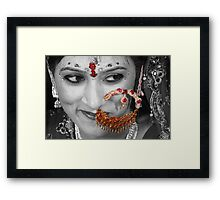 Hidden Smile Framed Print