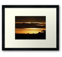 Sunset strip. Framed Print