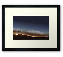 Stars in Sunset Framed Print