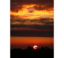 Sunset on fire. Photographic Print