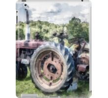 Old Vintage Tractor on the Farm iPad Case/Skin
