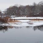 River at Rest in Winter by enchantedImages