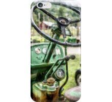 Vintage Green Tractor Steering Wheel iPhone Case/Skin
