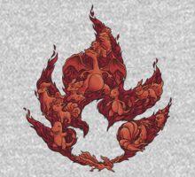 PokeDoodle - Fire One Piece - Long Sleeve