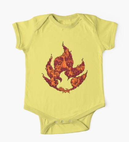 PokeDoodle - Fire One Piece - Short Sleeve