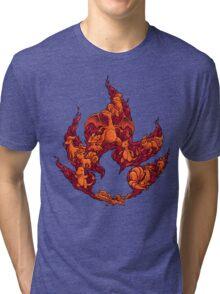 PokeDoodle - Fire Tri-blend T-Shirt