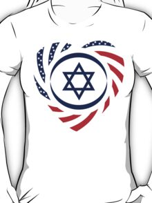 Israeli American Multinational Patriot Flag 2.0 T-Shirt