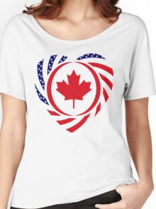 Canadian American Multinational Patriot Flag Series 2.0 Women's Relaxed Fit T-Shirt