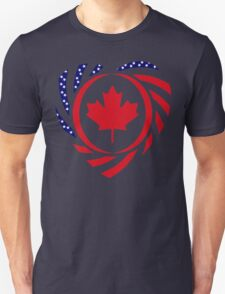 Canadian American Multinational Patriot Flag Series 2.0 T-Shirt