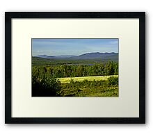 North Country Slam Dunk Framed Print