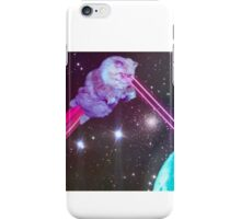 Galaxy Cat with Lazers Shooting iPhone Case/Skin