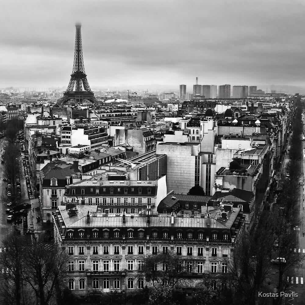 Paris cityscape II by Kostas Pavlis