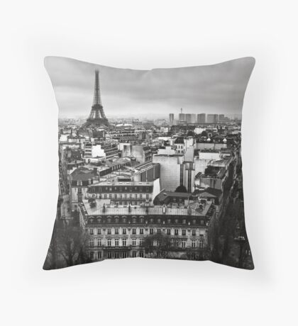 Paris cityscape II Throw Pillow
