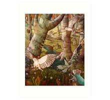Of Mice and Owls Mouse Guard Fan Art Art Print