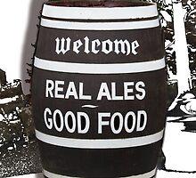 beer barrel real ales good food slogan by Tom Conway
