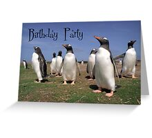 Penguins party Greeting Card