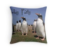 Penguins party Throw Pillow