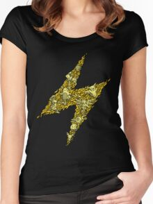 PokeDoodle - Electric Women's Fitted Scoop T-Shirt