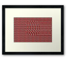 Stereogram Flying  Ball   Framed Print