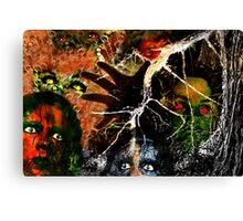 The Monster Mash, It Was a Graveyard Smash Canvas Print