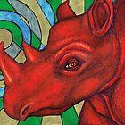Badak Api (Fire Rhino) by Lynnette Shelley