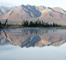 Reflections of Mentasta Mountains by akaurora