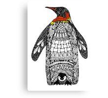 Zentangle Penguin Canvas Print