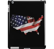 USA United States of America Flag Map iPad Case/Skin