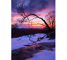 From the top of Snowy Creek .Lake Mountain Photographic Print