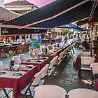 Sidewalk eating on Isla Mejures by Yukondick